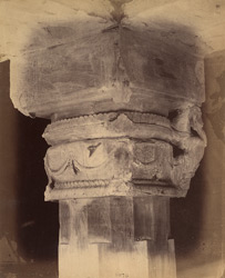 Close view of capital of a pillar inside the ''Amrita'' Cave (Cave XIX), Udayagiri, Madhya Pradesh
